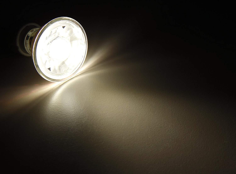 GU10 LED 7 Watt ~ 45W 230V AC 36° aus Echtglas warmweiß Glühlampe Lampe A+